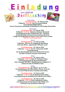 2020-02-22 bis 25_ Landler Fasching in allen Ortsteilen